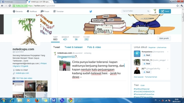 My fanse page, new account twitter